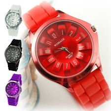 Steel Floral Dial Design Fashion Unisex Quartz Sports Wrist Watch Men Women gift