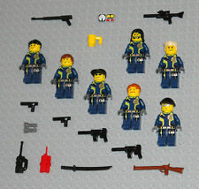 LEGO Minifigures 7 Agents Army Soldiers Machine Gun Weapons Guys Minifigs People
