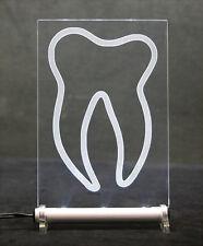 Zahnschild 15x10cm   Zahnarzt LED sign LEUCHTZAHN tooth / dentist / dental