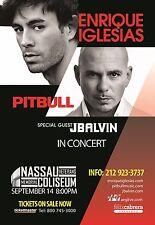 ENRIQUE IGESIAS / PITBULL 2014 NEW YORK CITY CONCERT TOUR POSTER-Reggaeton Music