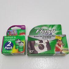 Fuji Quicksnap Flash Disposable Camera 35mm Film 800 ISO + 2 pk ISO 200 x 24