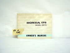 HONDA 175 MODEL CD175 OWNER'S MANUAL (#141)