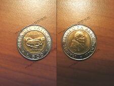 """Moneta bimetallica da lire 500 del 1992 """"Mani con pane""""- Città del Vaticano"""