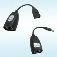 USB UTP Extender Adapter Over Single RJ45 Ethernet CAT5e 6 Cable Up to 50M