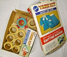 Kenner's Yarn Kit  for Knitting Machine 1966 Refill & Patterns  NOT COMPLETE box