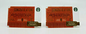 Starbucks Coffee 2014 Gift Card No.1 Congratulations 1971 Zero Balance Set of 2