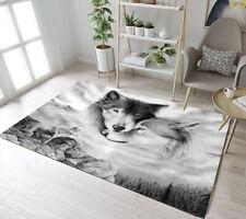 Wildlife Animals Wild Wolf Area Rugs Kids Bedroom Carpet Living Room Floor Mat