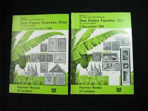 """TWO HARMER ROOKE AUCTION CATALOGUES 1965 THE """"DIAZ"""" COLLECTION OF LAS PALMAS"""