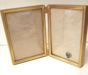 24K / Karat Gold Electroplate  P&B Picture / Photo Frame  2-Sided  Vintage