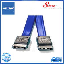 8Ware Serial ATA Cable SATA III 26AWG 50cm - Blue