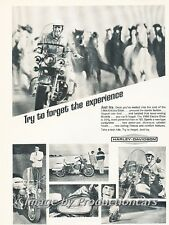 1966 Harley Davidson Electra Motorcycle Bike Advertisement Print Art Ad J726