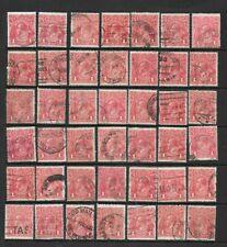 Stamps Australia Bulk 1d Red KGV Heads x 42 Good/Fine Used