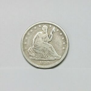 Better Date! 1839 50C Seated Liberty Silver Half Dollar ~ No Drapery Variety