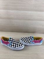VANS Slip On Multicolor Checkered Canvas Low Top Shoes Men's Size 5  Women's 6.5