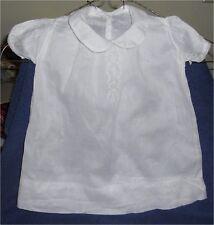 Vintage White Girl's Dress Size 6 mo (Adorable!) 2