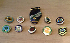 More details for 10 vintage bowling clubl pin badges free postage (3)