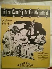 In The Evening By The Moonlight, Sheet Music, 1934