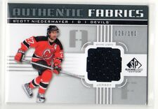 1X SCOTT NIEDERMAY 2011 12 SP Game Used AF-SN AUTHENTIC FABRICS JERSEY #'d x/100