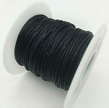 1mm Waxed Cotton Cord Beading String Cording Jewelry Macrame Spool 70m 229ft