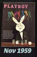 November 1959 Playboy Magazine, GOOD Condition