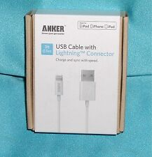 """ANKER USB Cable 63ANMFILTN-3WA with Lighting™ Connector 3ft """"NEW Sealed SALE!"""""""