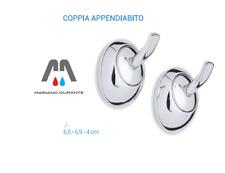 METAFORM SERIE LOUISE APPENDIABITO GANCIO DOPPIO ACCAPPATOIO ACCIAIO CR//CERAMICA