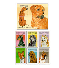 BEN9708 Purebred dogs block and 6 stamps