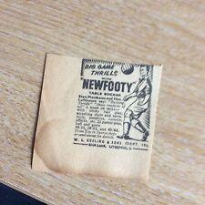 t1-9 ephemera 1956 advert new footy w l keeling & sons