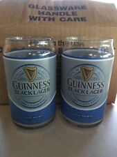 Guinness Black Lager Pint Can Glass16oz lot of 6 case pack