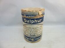 Vtg United Drug Co. SULPHUR powder cardboard box. Rexall Pharmacy advertising