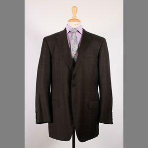 Tindari 44L Green Check Wool Two Button Sport Coat Blazer Jacket