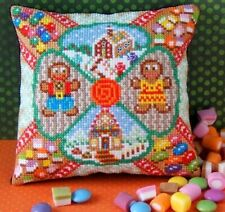 Gingerbread Sweet Treats Mini Cushion Cross Stitch Kit, Sheena Rogers Designs