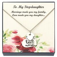 Daughter Pendant Necklace, Stepdaughter Jewelry, Gifts for Daughter