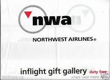 NWA NORTHWEST AIRLINES DUTY FREE PLASTIC BAG WHERE WEST MEETS EAST 2006