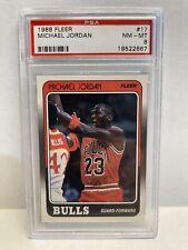Michael Jordan 1988 Fleer #17 PSA Graded NM-MT 8 Basketball Card