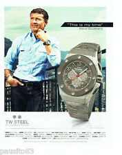 PUBLICITE ADVERTISING  056  2011  Tw Steel montre David Coulthard