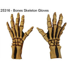 Skeleton Hand Covers Latex Ghoulish Fancy Dress Horror Fantasy Zombie Adult