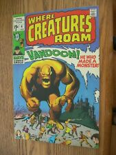Where Creatures Roam #4 VG+  Vandoom!!! He Who Made a Monster