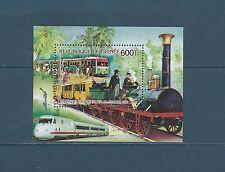 Guinée république  bloc train chemin de fer Allemand  1986  num : 66 **
