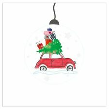 4 Lunch Paper Napkins for Decoupage Craft Vintage Napkin Christmas Santa, Car