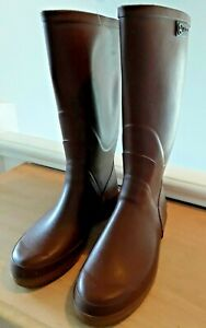 AIGLE CHAMBORD PRO L WOMENS BROWN WELLINGTONS SIZE UK 5 US 7 EU 38 NEW WITH TAGS