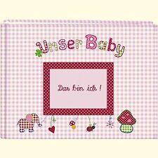 Unser Baby rosa großes Stoff Fotoalbum 4050003703787