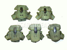 Lot of 5 US Made 30 Round Magazine Rifle LC-1 Small Arms Case Pouch Alice Clips