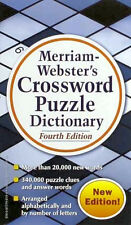 Merriam-Webster's Crossword Puzzle Dictionary, Fourth Edition Free Fast Shipping