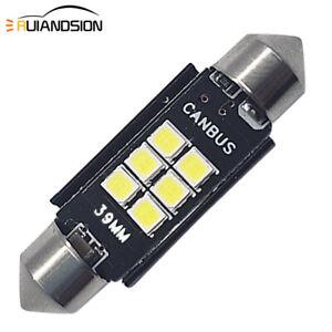 4PCS AC 12V Interior Dome /Number Plate Light LED Festoon 39mm Canbus Bulb White