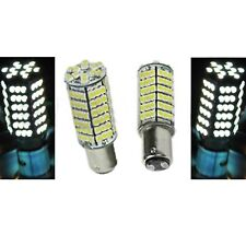 1157 120SMD WHITE LED 12V Tail Light Rear Brake Stop Turn Signal Lamps Bulb Pair