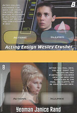Wesley Crusher Janice Rand Promo Card For Star Trek Five Year Mission