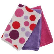 Polka Dot Pattern in microfibra Asciugamani Set Confezione da 3 Taglia Unica Bianco/Viola/Rosa