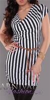 WOMENS SHORT SLEEVE TOP BLOUSE 6 8 10 12 LADIES CASUAL LONG SHIRT XS S M L belt