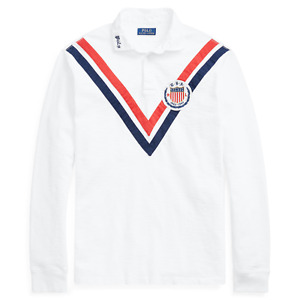 Ralph Lauren Chariots Fire Stadium Olympic Track Field Rugby Polo Shirt Sweater